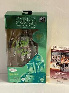 Star Wars Carbonized Boba Fett Signed By John Morton JSA COA Bespin Boba