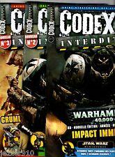 LOT 3 MAGAZINE CODEX INTERDIT n°1-2-3 ¤ WARHAMMER/STAR WARS/DUNGEONS DRAGONS