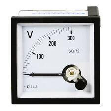 1pc 0 300v Analog Panel Voltage Meter Voltmeter Gauge Sq 72 Ac Class 15