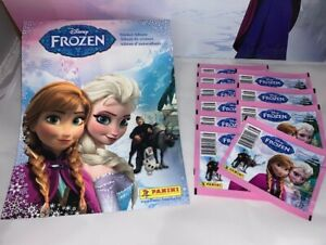 Panini Disney Frozen (10) Sticker Pack & Album Combo NEW!!