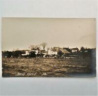 Antique Real Photo Postcard View Days Ferry Kennebec River Woolwich Maine RPPC