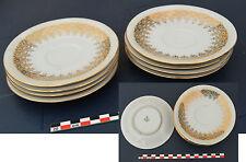 Service de 8 assiettes à dessert anciennes en porcelaine de Bavière Winterling +