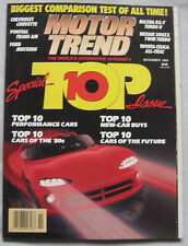Motor Trend 11/1989 featuring Nissan 300ZX, Mazda RX-7, Toyota, Pontiac,Corvette