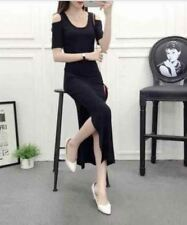 DW 255 Cut out Maxi Dress with SLIT FREE SIZE