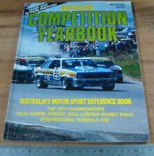 1978.Competition Yearbook.F1.Bathurst Hardie Ferodo.BROCK MOFFAT FALCON TORANA