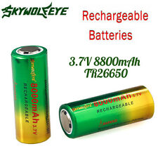3.7V 8800mAh TR26650 Li-ion Rechargeable Battery for LED Flashlight Headlamp HOT