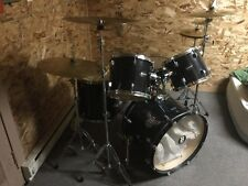 Excellent Condition Ludwig Drum Set with Hydraulic Heads, Cymbals with Stands