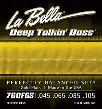 La Bella 760FGS Deep Talkin' Bass Gold Flats - Standard