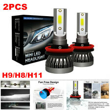 2PCS H9/H8/H11 LED Headlight Kit 255000LM Beam Bulb 6000K HID Car Fog Light Lamp