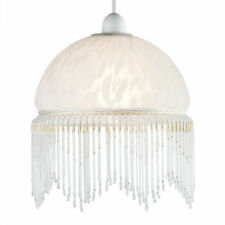 Traditionnel Style Art Déco Plafond De Verre Abat-jour Suspendu montage abat-jour