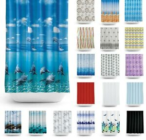 Tropik Home Fabric Bathroom Shower Curtain, Extra Wide And Long, W240 X L200CM