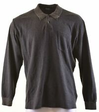 POLO RALPH LAUREN Mens Polo Neck Jumper Sweater XL Grey Cotton  DE29