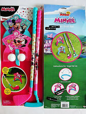 DISNEY MINNIE MOUSE MINIATURE GOLF COURSE SET,8 PIECES,IN & OUTDOORS,KIDS 3+,NEW