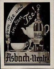 Asbach Uralt -- Zum Tee und in den Tee - Werbung von 1929
