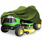 """Green Lawn Tractor Cover 300D Fabric Riding Lawn Mower Cover for Up to 62"""" Deck"""