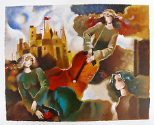 Galina Datloof Hand Signed Limited Edition Serigraph MUSICAL FLIGHT