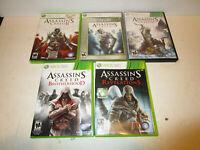 Assassin's Creed:1,2,3 , Brotherhood & Revelations Microsoft Xbox 360  Good Cond