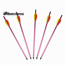 "5X 15"" Aluminium Metal Bolts Hunting Bow Archery Arrow for Crossbow 150 180 lbs"