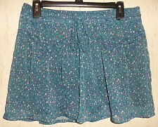 EXCELLENT WOMENS american eagle outfitters FUN FLIRTY BLUE FLORAL SKIRT  SIZE M