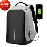 Anti Theft Backpack 15 inch USB Charging PC Laptop Waterproof Travel School Bag