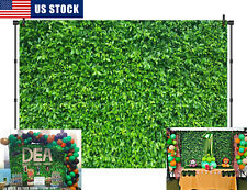 Luxuriant Bright Green Leaves Backdrop Deep Frondent Forest Photo Studio Props