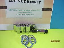 "16 OPEN END  MAG LUG NUTS  12 x 1.5  OLD AMERICAN TORQ  D WHEELS .68"" OD/.55"