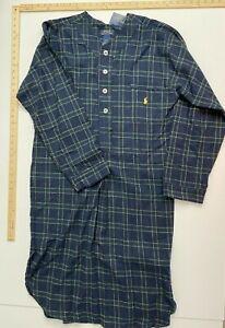 Polo Ralph Lauren Knit Long Nightshirt - Green Plaid - Medium - NWT