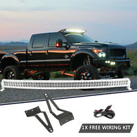 """50"""" 672W Curved LED Light Bar+Mounting Bracket For Ford F250/F350/F450 1999-2015"""