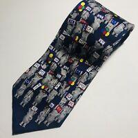 "Alynn Neck wear Republican's Blue Elephant  100% Silk Neck Tie Classic 59"""