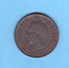 (BR.175) 10 CENTIMES NAPOLÉON III 1857 W LILLE (TB+) RARE