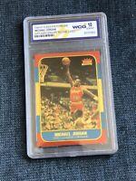 Michael Jordan Fleer 1996 Rookie Anniversary Polychrome Card Wccg Graded 10