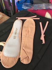 CAPEZIO CANVAS SPLIT SOLE BALLET SHOES 2028W JULIET WIDE FIT ballet pink girls