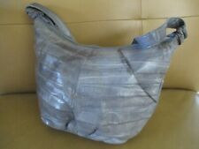 VTG Genuine Eel Skin Gray Shoulder Purse Handbag