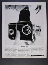 1966 Hasselblad 500C Camera 'Natural size.' vintage print Ad