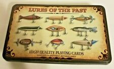 Antique Fishing Lure Playing Cards With Dice in Tin Box Lures Of The Past