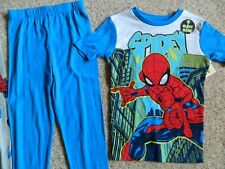 "Spiderman ""Spidey"" 2 pack of 100% cotton boys pajama size 10 glow in the dark"
