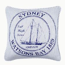 Sydney Watsons Bay 1889 Blue White 45x45cm Souvenir Cushion Cover RRP$33.95