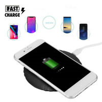 Desktop Qi Wireless Fast Charger Mat Charging Pad Stand Dock For Mobile Phone