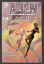 Alien Encounters #1 Eclipse Comics Copper Age VF+ Joe Chiodo Painted Cover