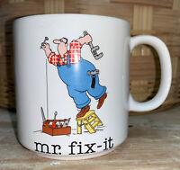 Vintage 1980s Jim Benton Coffee Cup Mr Fix It Fail Papel Ceramic Mug DH