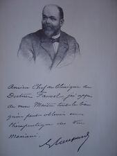 Gravure Portrait du Docteur Gabriel Jean COUPARD 1902