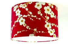 """Lampshade Handmade with Laura Ashley Lori Cranberry Wallpaper Red 30cm/12"""""""