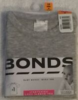 Bonds Stretchies Long Sleeve Tee Grey Size 00 (3-6 Months) BRAND NEW WITH TAGS