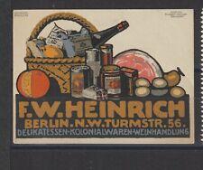 German Poster Stamp Food Drink Artist Lehmann Steglitz