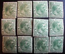 12 sellos TIMBRE MOVIL VA3 MH * ALFONSO XII FISCALES SPAIN REVENUE 1885 CLASSIC