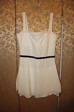 Nike White Gray Velvet Trim Tennis Dress Small S