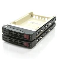 "Lot of 2 SuperMicro 2.5"" Hard Drive Hot Swap Caddy & Cradle SAS SATA 05-SC97335"