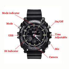 MINI Waterproof 32GB Spy Watch Camera HD 1920*1280 Night Vision Hidden DVR Cam