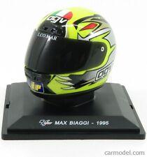 Edicola deagcasdeigrcamp007 scala 1/5 agv casco helmet max biaggi 250cc 1995