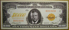 Theodore Roosevelt 10000 Dollars US USA Teddy Fun Play Money Gift Bill Novelty